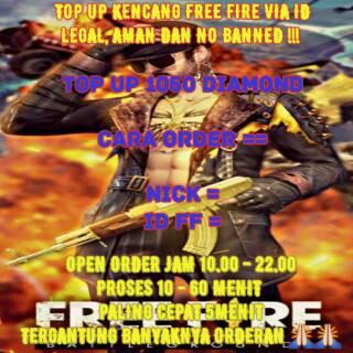 TOP UP 1050 DIAMOND FREEFIRE TERMURAH DAN TERAMAN   Shopee