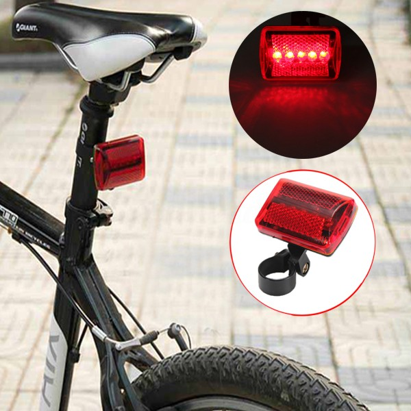 Solar Powered LED Rear Flashing Tail Light for Bicycle Bike Cycling Lamp ♫