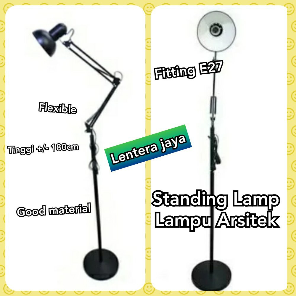 Unik Lampu Belajar Arsitek Model Berdiri Standing Lantai Tinggi 175cm Murah | Shopee Indonesia