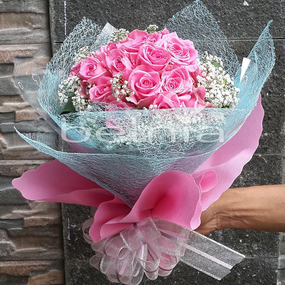 Hand Bouquet Fresh Flower Buket Bunga Asli Rose Mawar Ulang Tahun Anniversary Valentine Birthday Shopee Indonesia