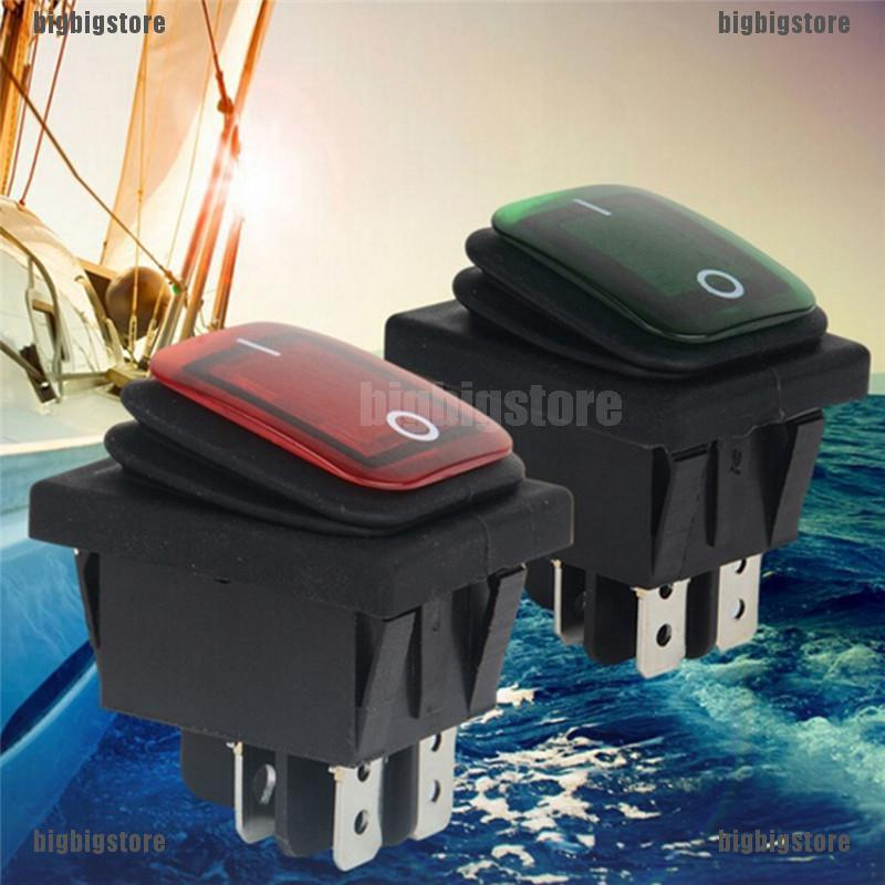 Waterproof 4Pin 12V LED Rocker Toggle Switch Momentary Car Boat Marine On-off vd