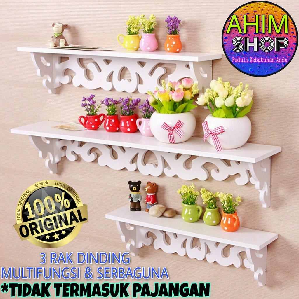 Rak Dinding 3 Susun Furnitur Interior Gantung Hiasan Rumah Dekorasi Pajangan Vintage Klasik 3in1 Wpc Shopee Indonesia