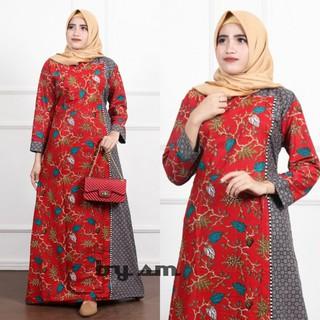 Gamis Batik Bisa Cod Baju Gamis Wanita Model Terbaru Syari Garansi Termurah Di Shopee