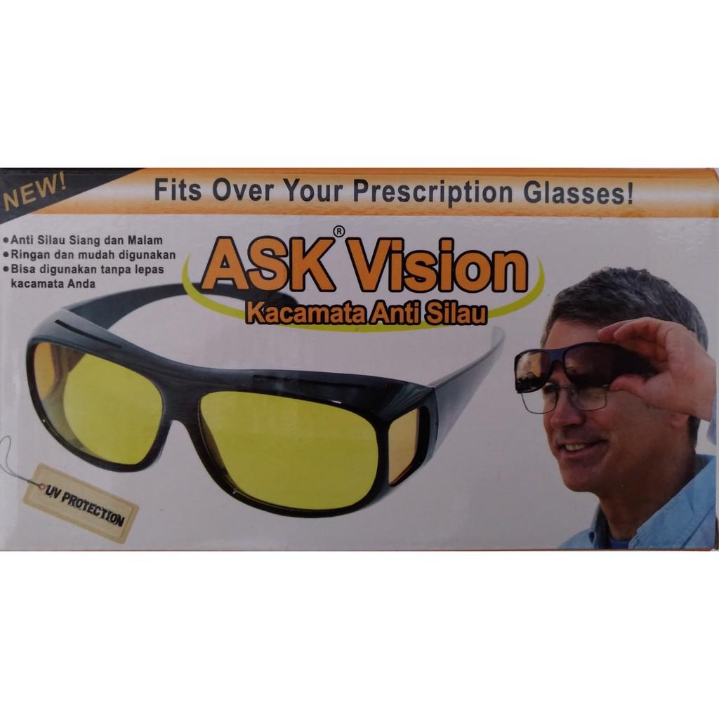 Kacamata Ask Vision Isi 2 Shopee Indonesia Hd Sunglasses Pcs Sunglass Wrap Arounds