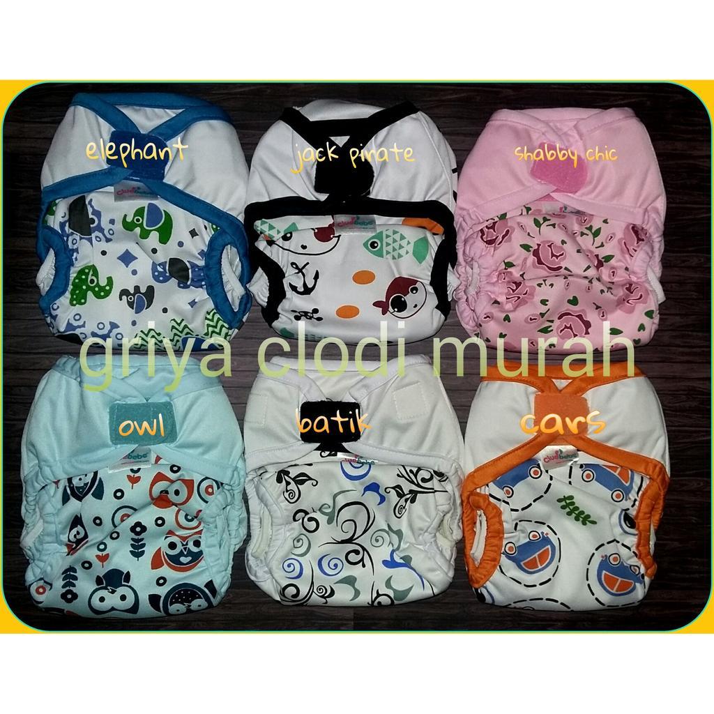Clodi Cluebebe Coveria Large Cloth Diaper Popok Kain Grosir Minikinizz Izzy Eco  Motif 6 Murah Shopee Indonesia