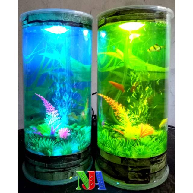 Desain Akuarium Ruang Tamu  nja aquarium cylinder berbentuk tabung tipe t2