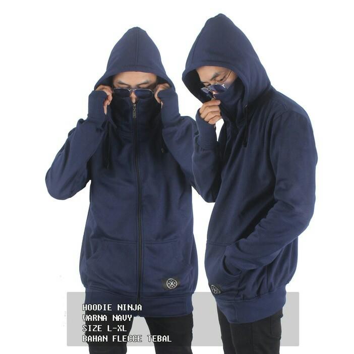 Jaket pria ninja seven keys polos 2 in 1 original  1481b0cdb2