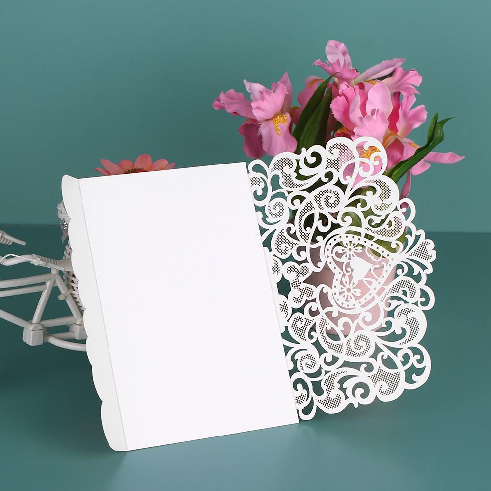 Kartu Undangan Pesta Elegant Ukiran Bunga Romantis Invitation Cards untuk Pesta Ulang Tahun dan Pernikahan | Shopee Indonesia