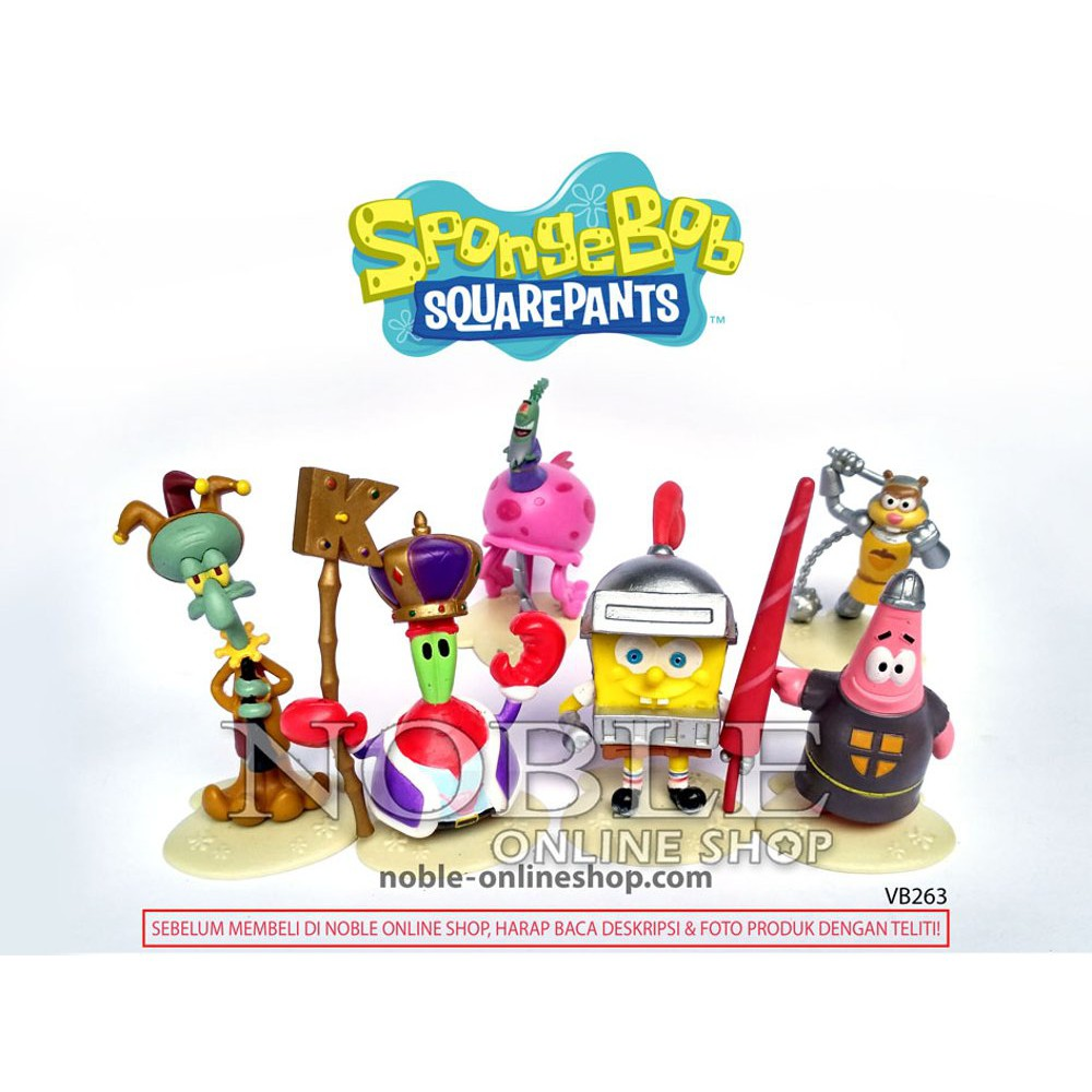 🚚COD 6Pcs Mainan Action Figure Karakter Kartun Spongebob Squarepants Lucu  untuk Anak  380bba2926