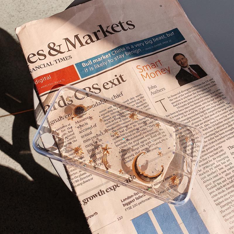 Casing Case Pelindung Layar Belakang Silikon Aksen Bulan ...