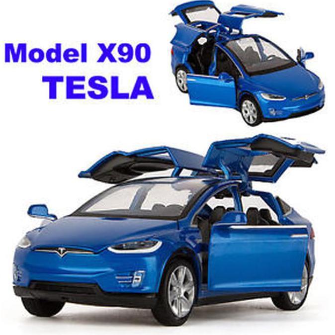 Terbaru 1 32 Tesla Model X 90d Suv Diecast Model Car Sound Light Pull Back Toy Diskon Terkini Shopee Indonesia