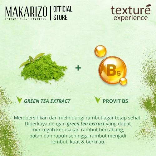 Makarizo Professional Texture Experience Shampoo Green Tea Butter 250 ml-3