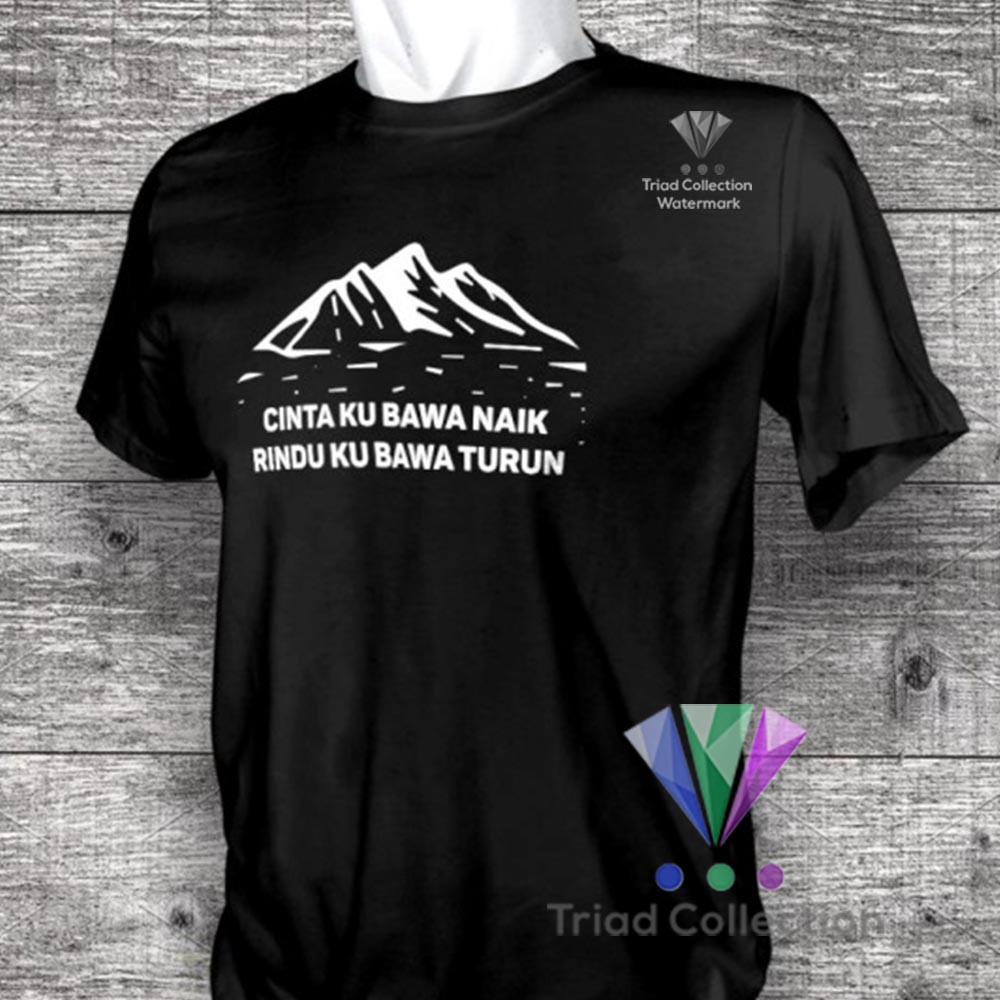 kaos distro pendaki gunung mountain adventure natgeo cinta