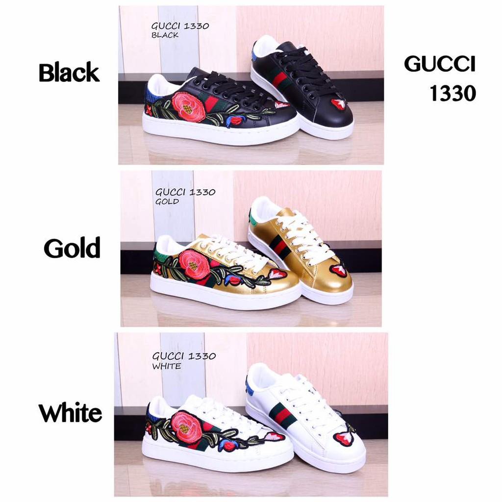 75dbefa53d0 Sepatu branded import murah - Sepatu Gucci Sneakers Flower Blossom Semprem  1330