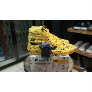 Sepatu Vans SK8 Hi Peanuts Charlie Brown Maize - Original PREMIUM BNIB  Waffle ICC Made in China b5ffb517c