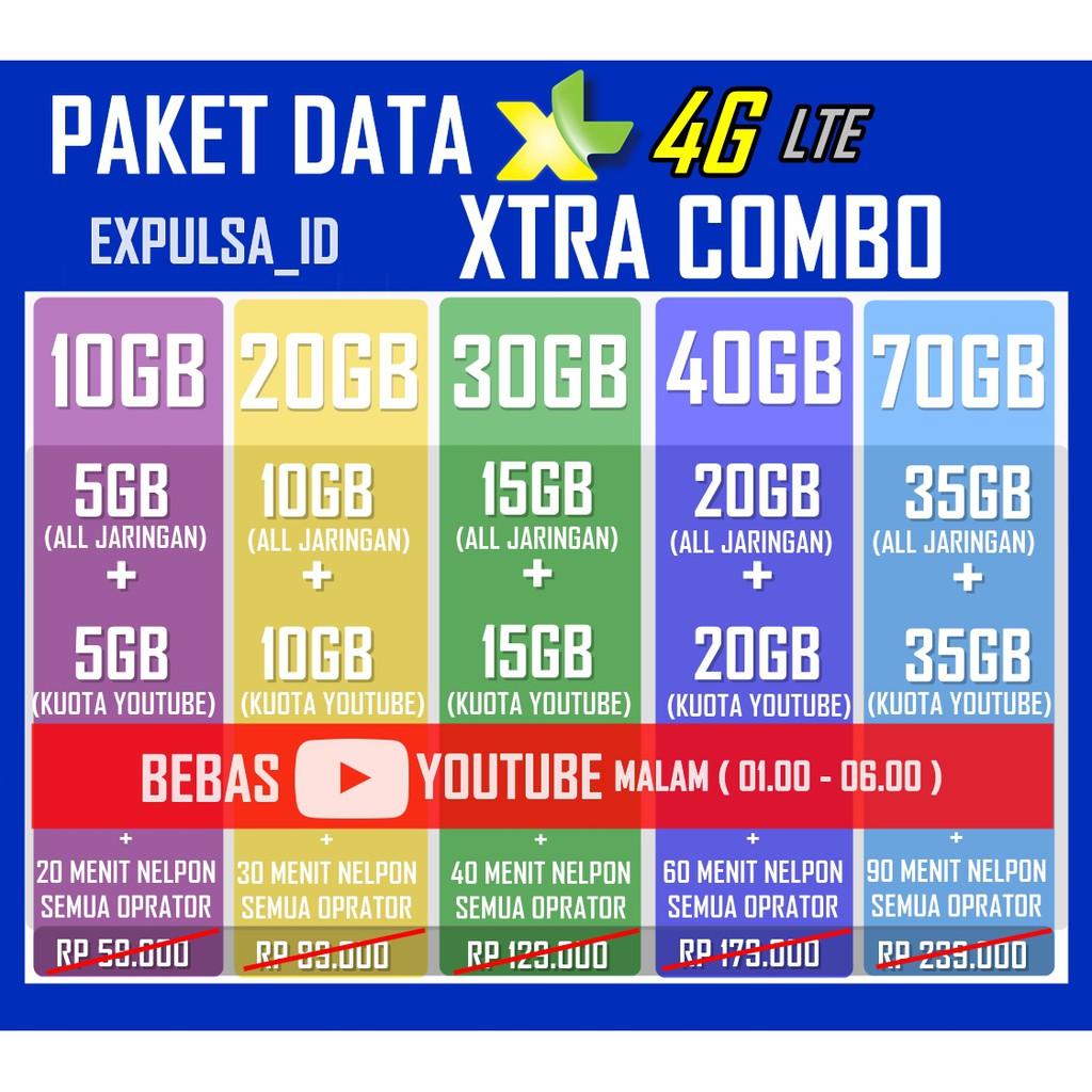 Transfer Kuota Xl Xtra Combo Lite 30hr Shopee Indonesia Hybrid 25gb