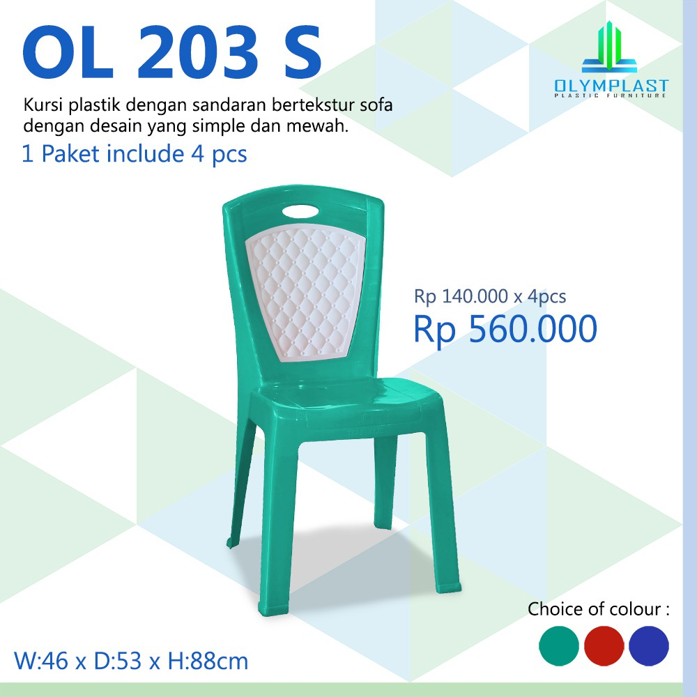 700 Koleksi Harga Kursi Plastik Merk Olymplast HD Terbaru