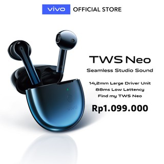 vivo TWS Neo Bluetooth Earphone - Battery life up to 22.5h with Al Noise Cancelling  - Garansi Resmi