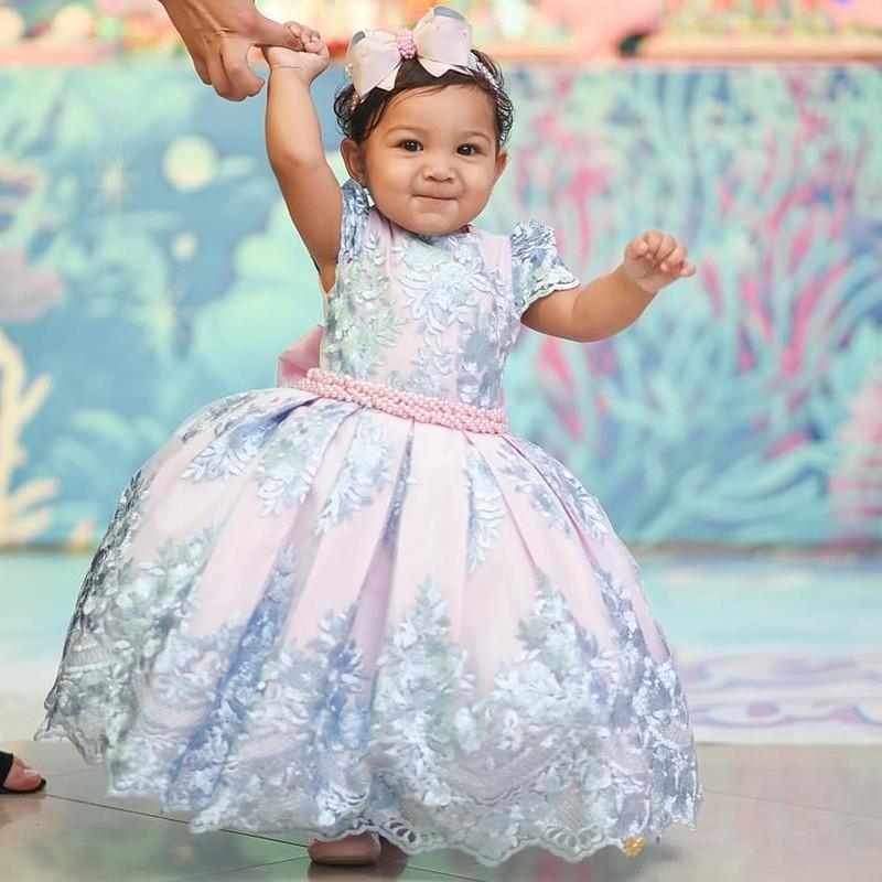 Girls Summer Princess Dress Kids Baby Party Wedding Sleeveless Tutu Dresses 2-8Y