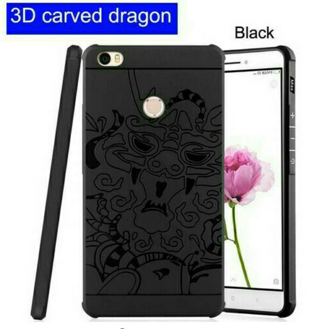 Cocose Drop Resistance Armor Carved Dragon Silikon Back Case For ... - Dragon Vivo