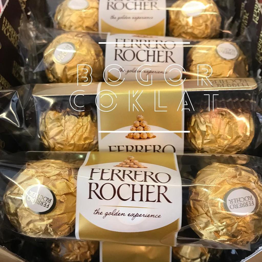 Ferrero Rocher T3 375 Gr 8000500010709 Shopee Indonesia T24 Coklat 24pcs