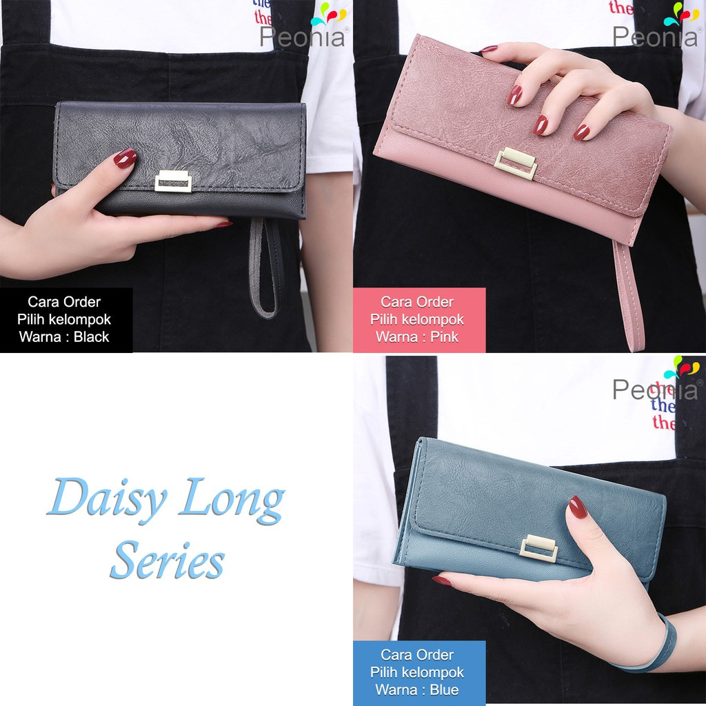 Peonia Korea Fashion Style Dompet Hp Wanita Clutch Premium Grade A for Aster Young Long Series | Shopee Indonesia