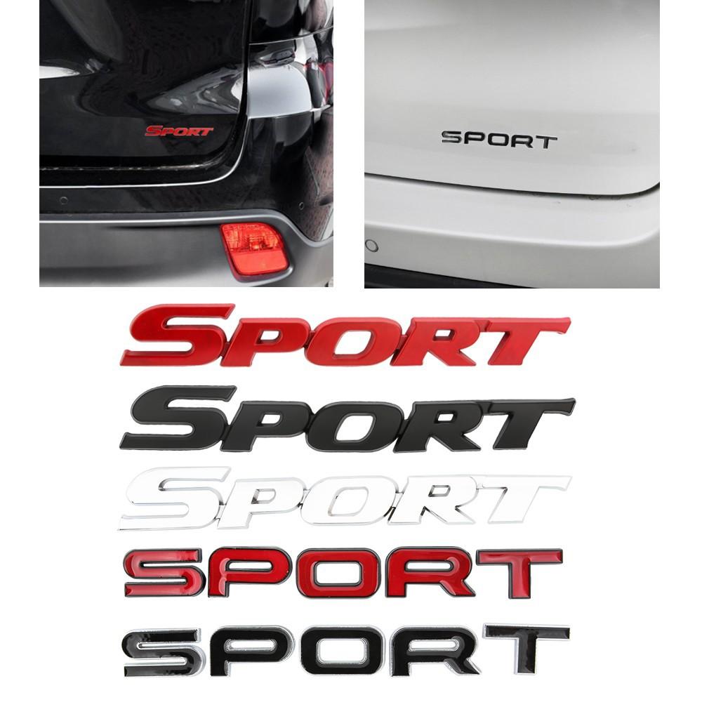 Senzeal 1pc Stiker Logo Emblem 3d Bahan Metal Untuk Logo Mobil Sport Shopee Indonesia