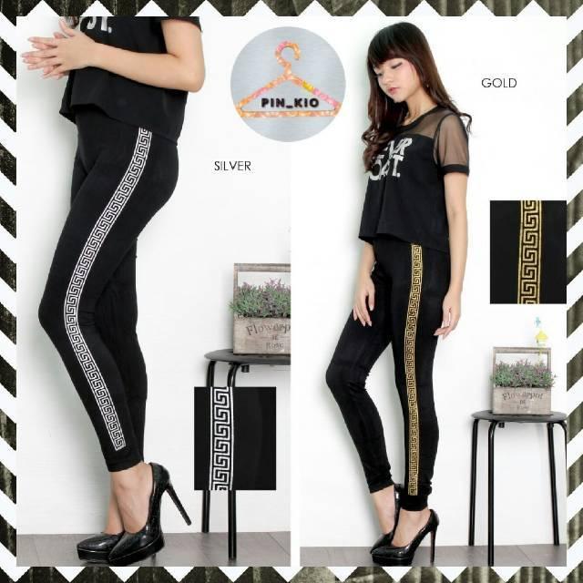 Legging Import Kekinian Fashion Wanita Legging Senam Celana Olahraga Wanita Running Shopee Indonesia