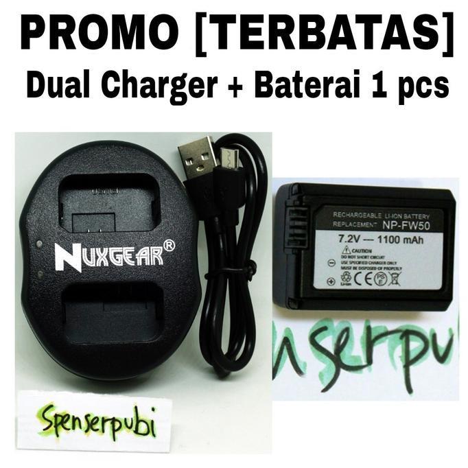 ? KINGMA NP-FW50 Charger Baterai Dual Slot Micro USB untuk Sony A7 A7R2 a7m2 | Shopee Indonesia
