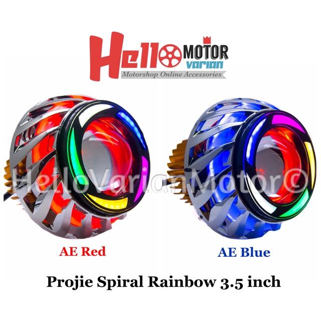 Lampu Projie U26R Mini RRB Rainbow 3 Inch Angel Bulat Running WMP-0592 | Shopee Indonesia