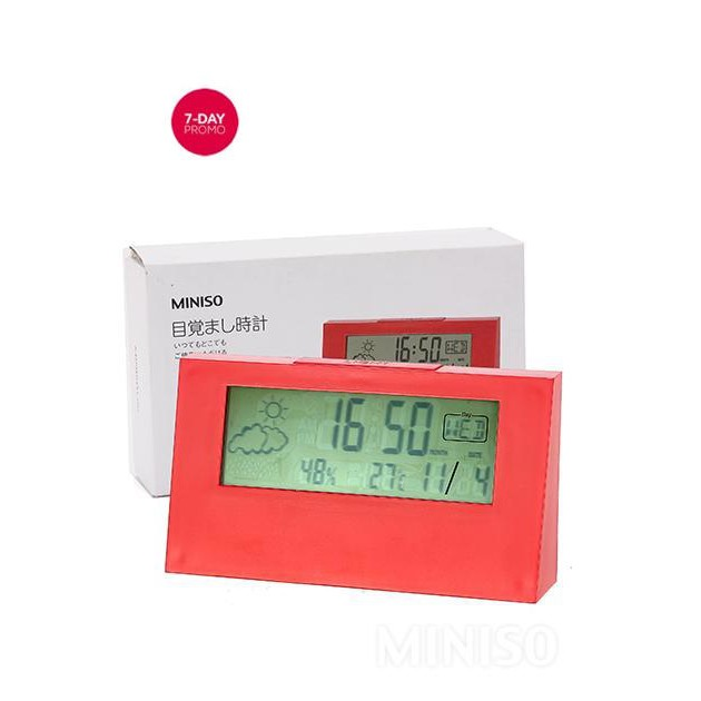 LCD Alarm Clock Jam Waker MINISO  342ca983f1