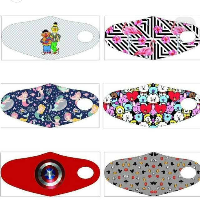 Masker kain motif/Masker korea/Masker kain custom/Masker ...