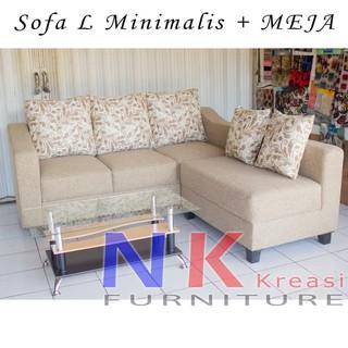 Sofa Kursi Ruang Tamu L Putus Minimalis Sofa Sudut Mewah Meja Tamu