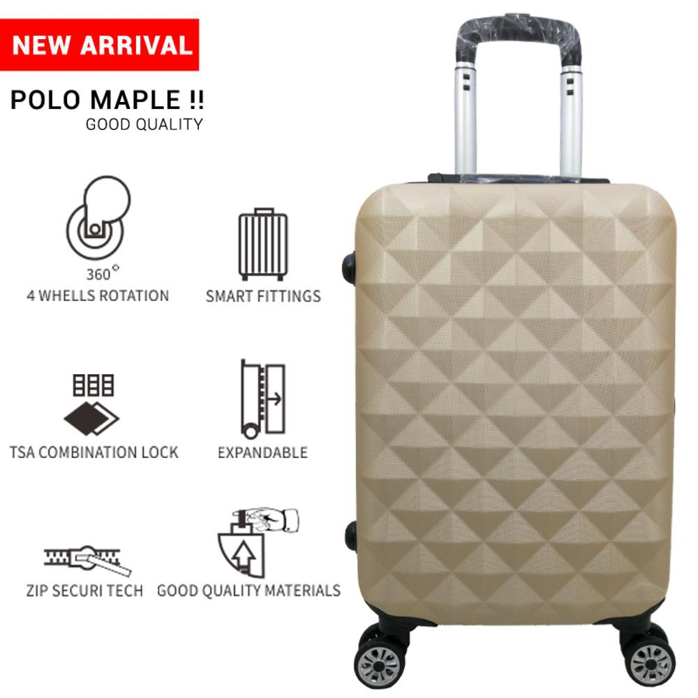 Cuci Gudang Koper Polo Hoby 24 Inch Type 705 Coklat Shopee Indonesia Tas Fiber Abs Kabin Size 20 Silver