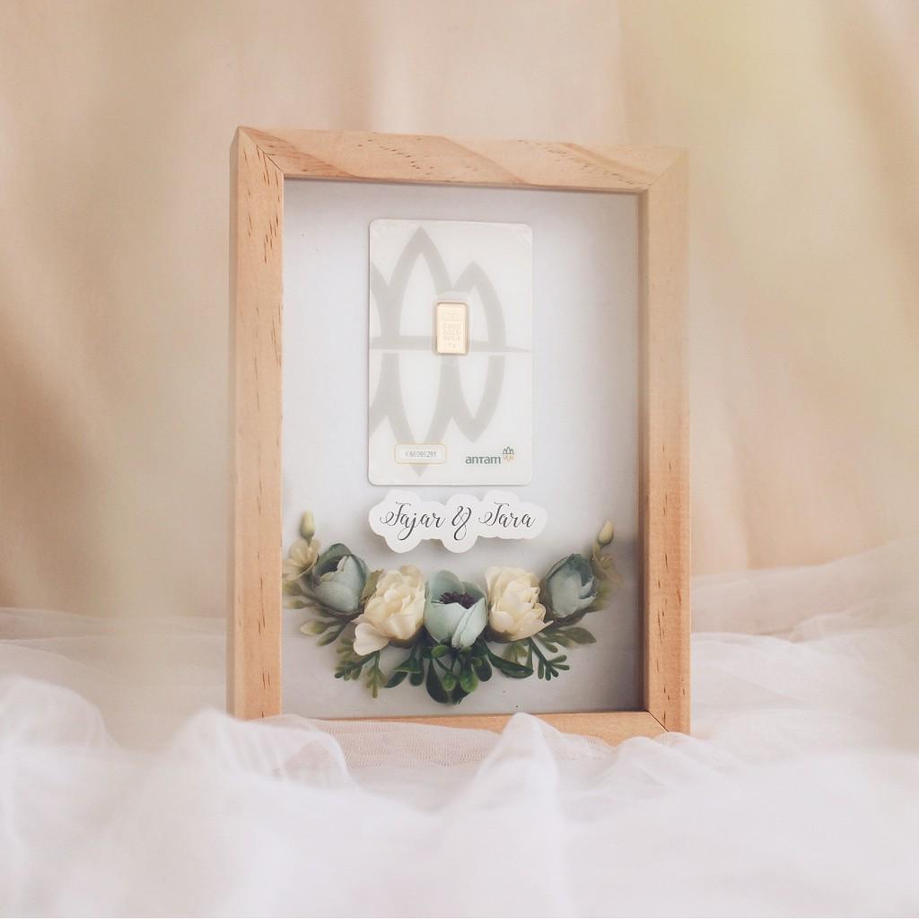 Mahar Mini Simple - Kotak Frame Uang Emas Perhiasan ...