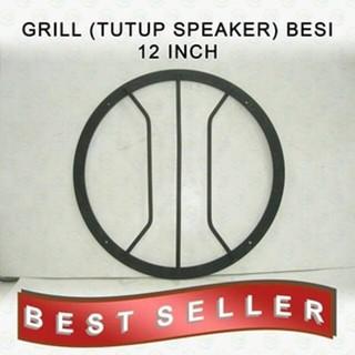 "Grill Subwoofer /Tutup Speaker 6"" Bahan besi hitam Hg sepasang   Shopee Indonesia"