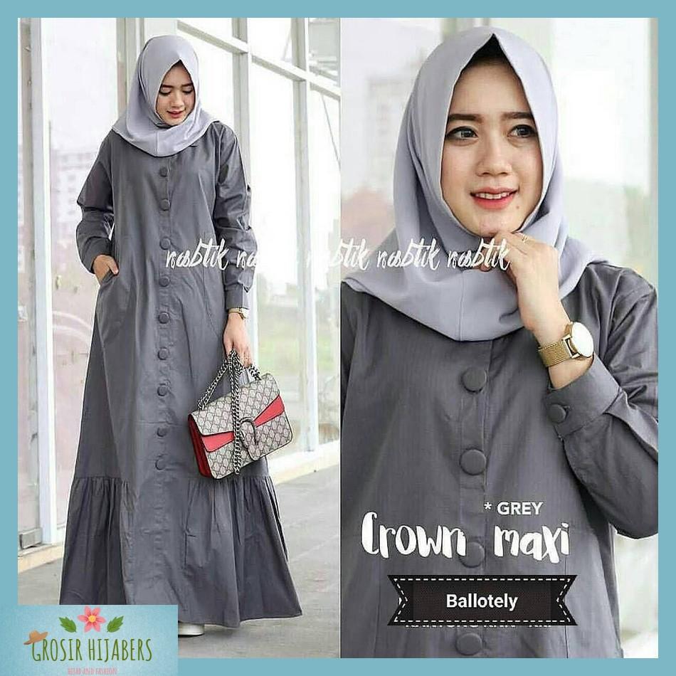 Baju Muslim Gamis Syari Kekinian Murah Wanita Zahira Dress Motif Terbaru   Shopee Indonesia