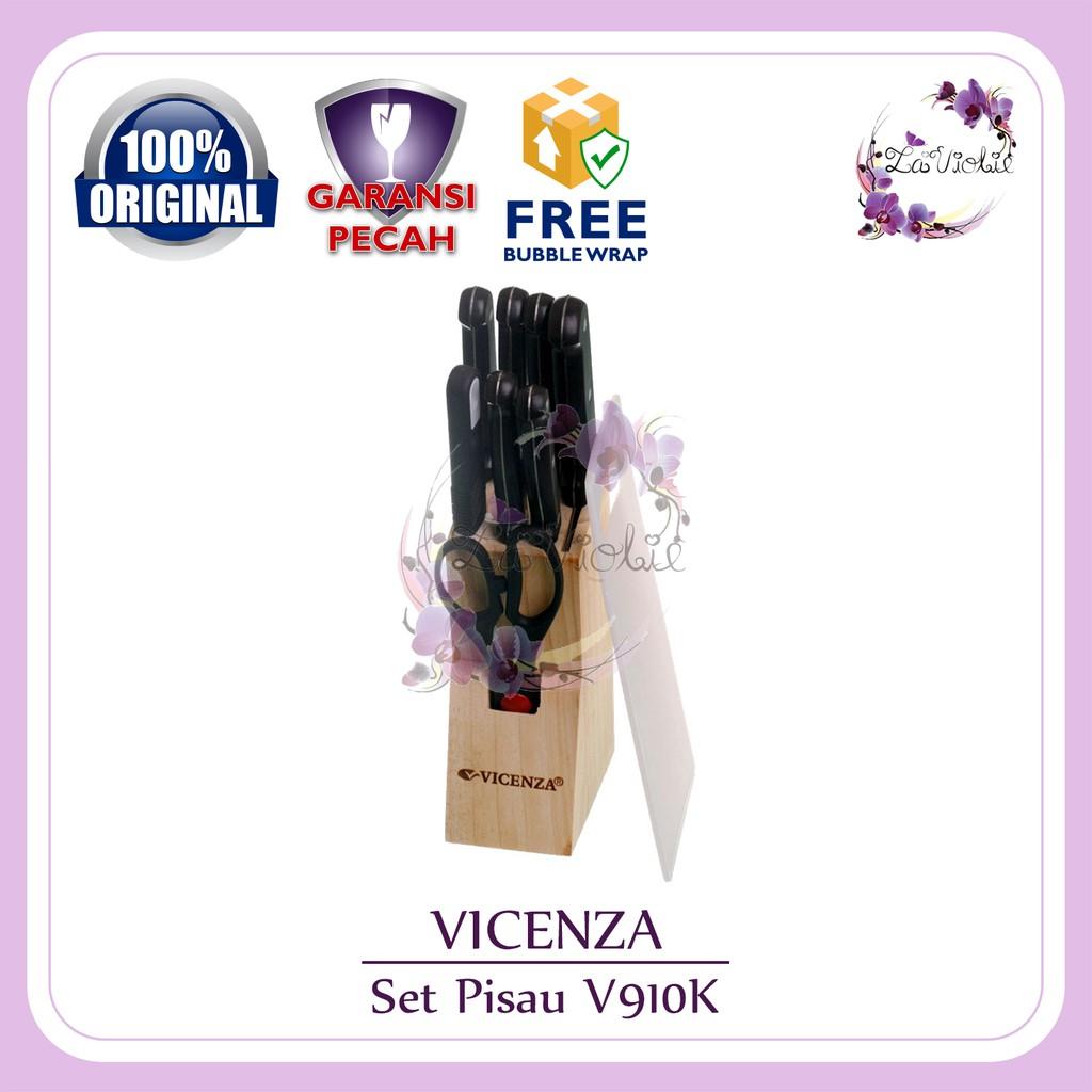 Pisau Set Vicenza Warna 10pcs Perlengkapan Shopee Indonesia V920k Merah Muda