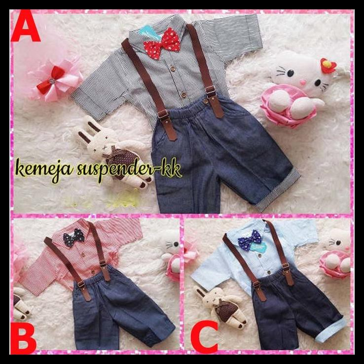 Setelan Baju Anak   Baju Bayi - Suspender Dasi  a5c8553fe7
