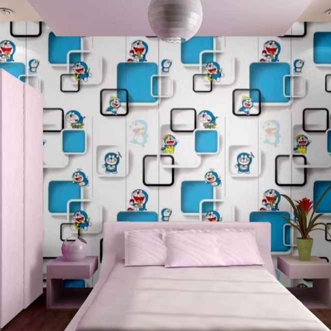 Wallpaper Dinding Doraemon 3d Shopee Indonesia