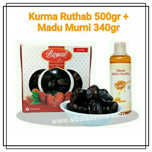Kurma Ruthab Hitam 500 Gr Royal Dates Ruthob Favorit Ramadhan Best Seller Ready Stock Premium Murah