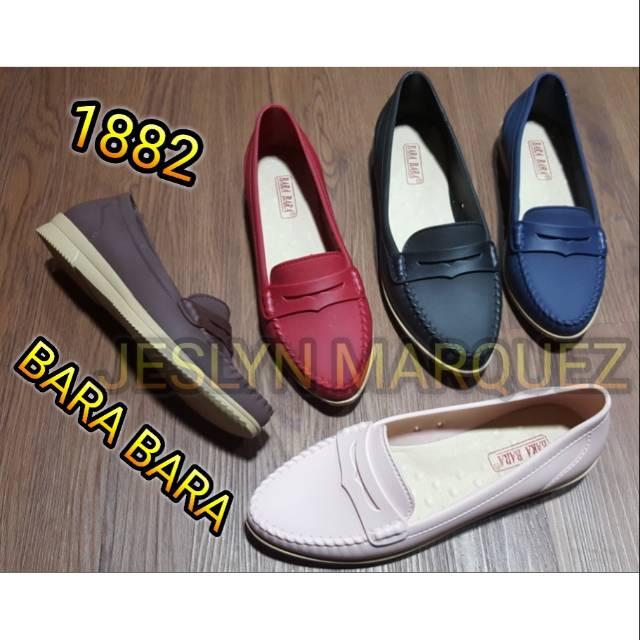 BIG SIZE Jelly shoes bara bara sepatu wanita karet flat shoes import cewek 1882 | Shopee Indonesia