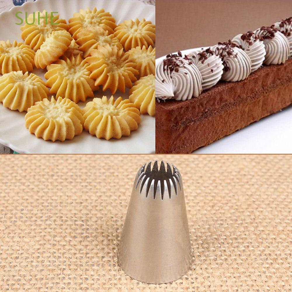 Suhe 195 Russian Kitchen Accessories Pastry Tips Stainless Steel Cupcake Icing Piping Nozzles Shopee Indonesia