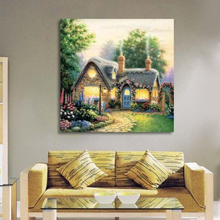 NEW❀JEA❀DIY Full Drill Home To Cottage Diamond Wall Stickers Painting Home Decor