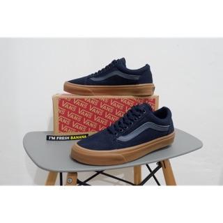 d09e08e3328 100% Premium Sepatu Vans Old Skool DK Blue Dark Navy - Sol Gum DT oldskool  dressblue BNIB