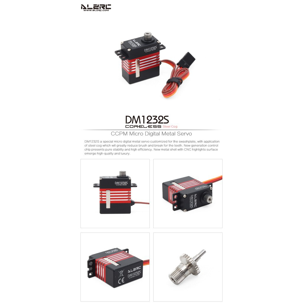 ALZRC DM1232S For RC Helicopter Aircraft CCPM Micro Digital Metal Servo