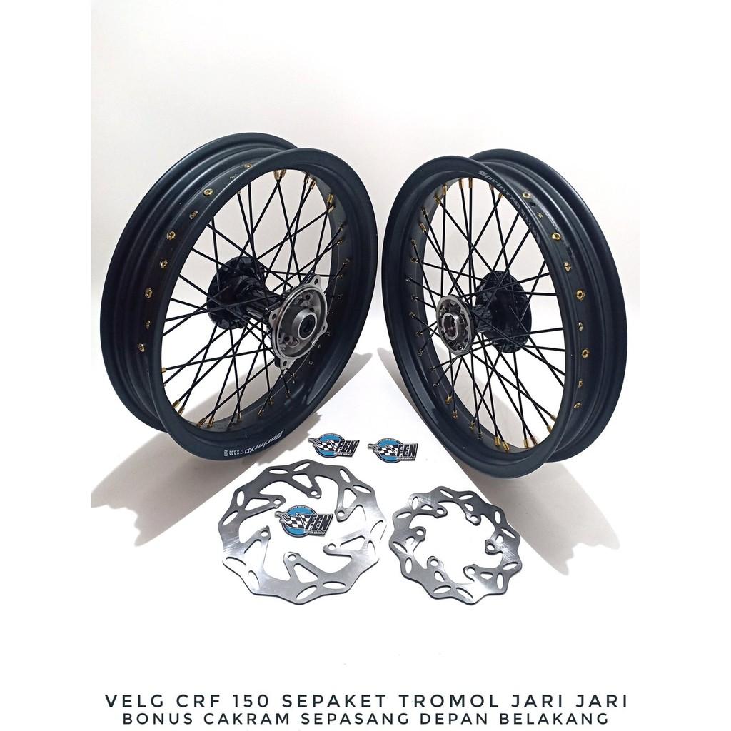 Velg Sepaket Tromol Jari-Jari - Motor Klx 150 - Dtracker - Bf - Supermoto