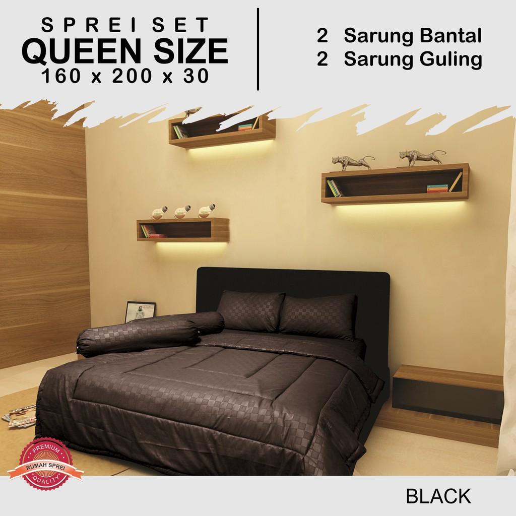 Set 4Pcs Sprei, Sarung Bantal dan Selimut dengan Bahan Halus Gambar Motif Ukuran Queen | Shopee Indonesia