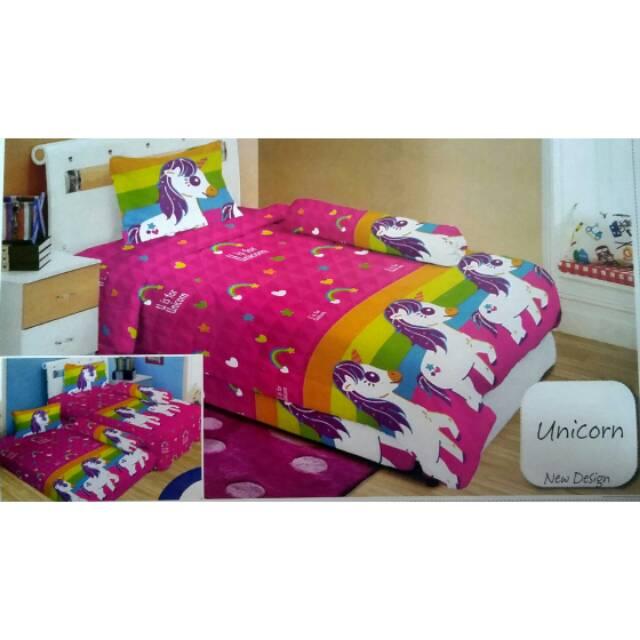 Bedcover Lady Rose Single Unicorn 120x200 Shopee Indonesia