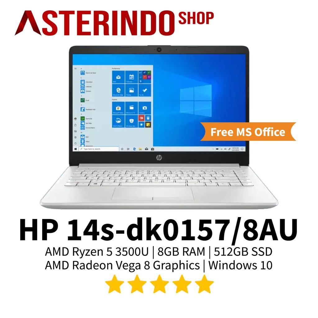Laptop Hp 14s Dk0157 8au Amd Ryzen 5 3500u 8gb 512gb Ssd Vega 8 W10 Shopee Indonesia